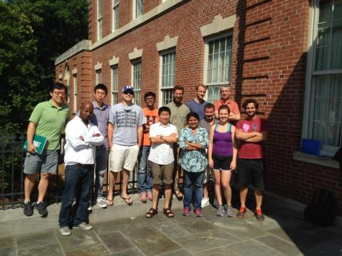 The Deshusses lab June 2015: from left to right, Jiele, Kura, Dongzhi, Stewart. Siddharth, (back) Aaron, Andy, Marc, (front) Shiwei, Smita, Jeremy, Trisha, Jose