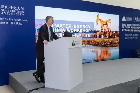 Marc Deshusses cohosting the Second Water-Energy Workshop at Duke Kunshan University (October 2015)