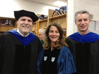 Jeff Glass (Electrical Eng and MEM Program), Melinda Gates and Marc Deshusses